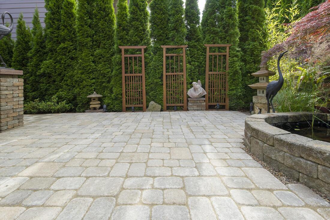 residential hardscaping design when completed